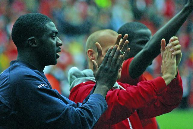 Kolo Toure and Emmanuel Eboué
